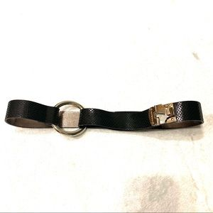 Michael Kors Genuine Leather Black Snakeskin belt